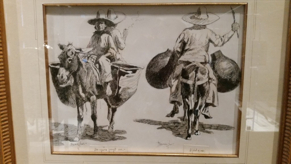 """""""An Equine Freight Car and Point of View"""" 1889 Frederick Remington"""